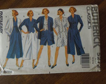 Butterick 5272, sizes vary, unlined jacket, top, split skirt, UNCUT sewing pattern, craft supplies