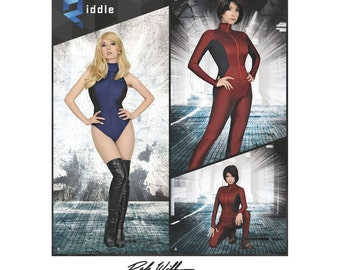 8286, Simplicity, Misses', Knit and Woven ,Jumpsuit, Leotard, Riki Lecotey, Dale Widden, Anime Costume, Comic book hero, Cosplay, Halloween