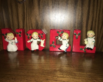 Vintage Christmas Napco NOEL Yuletide Quartet Christmas Holiday 1956 Japan