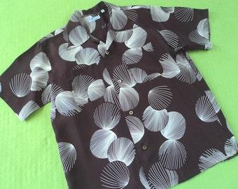 1950s Rockabilly Hawaiian Aloha Reproduction Shirt Duke Kahanamoku Sun Surf Japan MEDIUM-LARGE