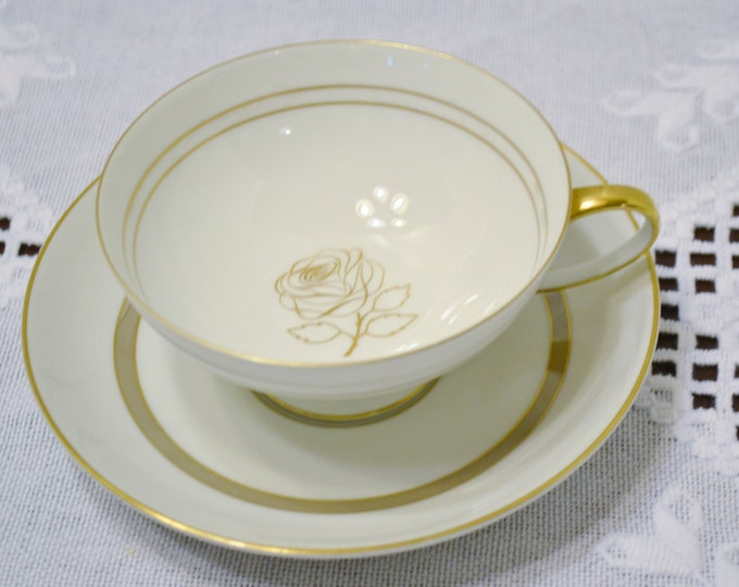 Vintage Rosenthal Rosenthal Rose Cup and Saucer Gold Rose Design Germany Replacement Bridal Baby Shower Panchosporch