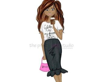 Fashion sketches Girly wall decor Chic illustrations Fashion illustration wall art Glamour prints Fashion room decor Fashion drawing