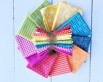 "Rainbow Fat Quarter Bundle: 11 - 18"" x 22"" cuts"