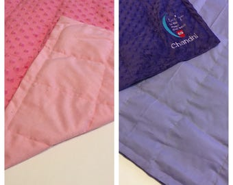 Cotton/ minky weighted blanket 35X40 & 40X60