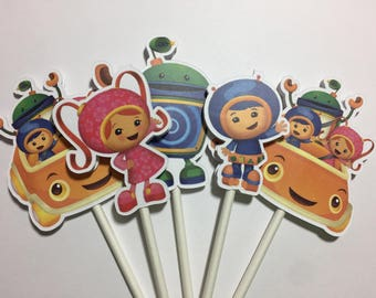 x12 Team Umizoomi Characters Inspired Cupcake Toppers