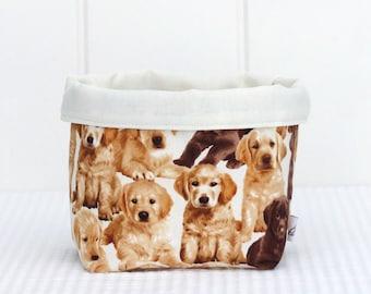 Fabric Storage Baskets - Puppies