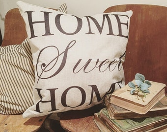 Home Sweet Home Farmhouse Accent Pillow