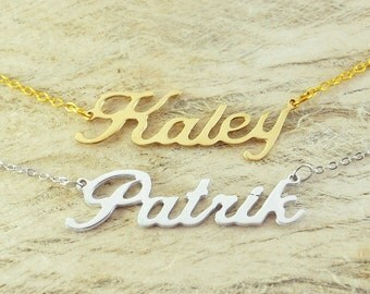 Custom Alloy necklace name necklace special gift for your love unique gift personalized necklace for Christmas