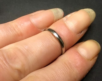 stainless steel wedding band midi ring gift for him gift for her - Goth Wedding Rings
