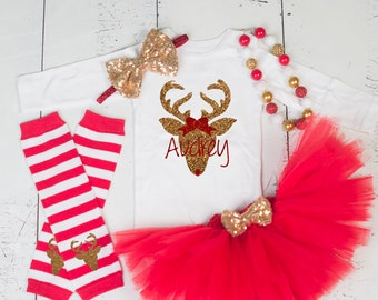 BABY GIRL 1ST CHRISTMAS Outfit,My First Christmas Bodysuit,Baby Girl Christmas Tutu,Girl 1st Christmas,Girls Christmas Outfit NM01