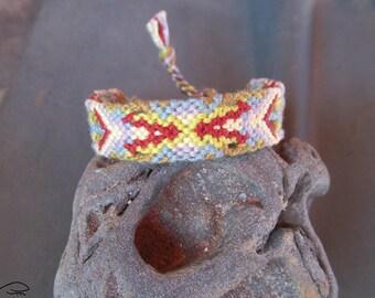 Friendship Bracelet, Woven Bracelet, Earth Colors Friendship Bracelet, Muted Color Bracelet, Knotted Bracelet, Macrame Bracelet (005-1)