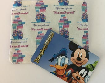 MINI Disneyland-Inspired Its A Small World Handmade Fabric Small Zipper Pouch/Coin Purse