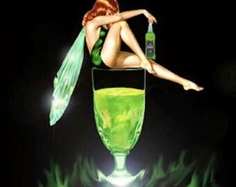 Absinthe Gel Wax Candle - The Green Fairy!