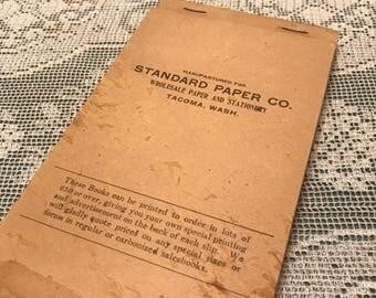 1920's Receipt Book Unused