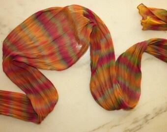 Silk Chiffon Scarf BOHO Silk Scarf Shibori Silk