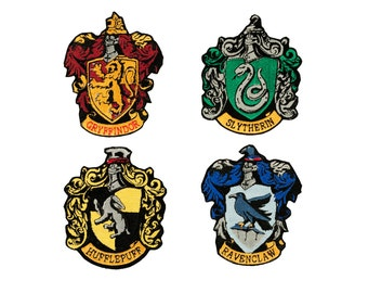 Harry Potter House Crest - Fully Embroidered Patch (Griffyndor, Hufflepuff, Ravenclaw, Slytherin)