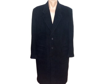 Vintage Balenciaga Paris men coat Cashmere Wool Blended Fabric Made in Italy