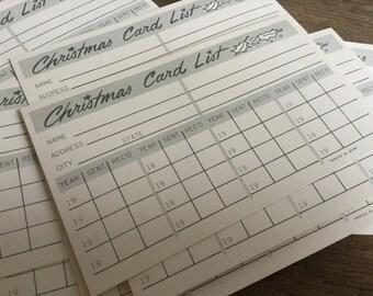 Vintage Christmas List Card Set