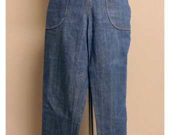 vintage 40's style woman jeans small/medium