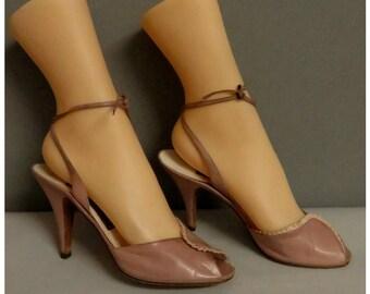 Vintage 1950s style peep toes Dita Von Teese style 37/38
