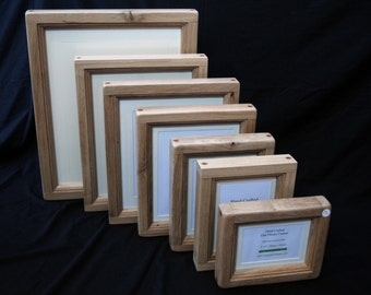 """18"""" x 14"""" Chunky Oak Picture Frame - Hand Crafted by 'Chunky Oak Designs'"""