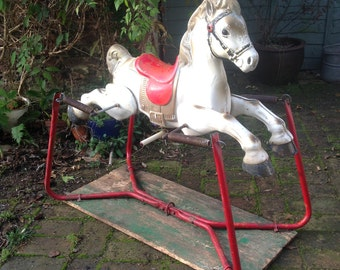 SOLD 1950's MOBO sprung rocking horse
