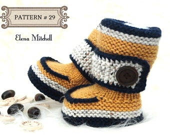Knitting PATTERN Baby Shoes Baby Booties Baby Boy Baby Girl Pattern Knit Babies Knitted Baby Boots Baby Uggs Infant Shoes Newborn Pattern