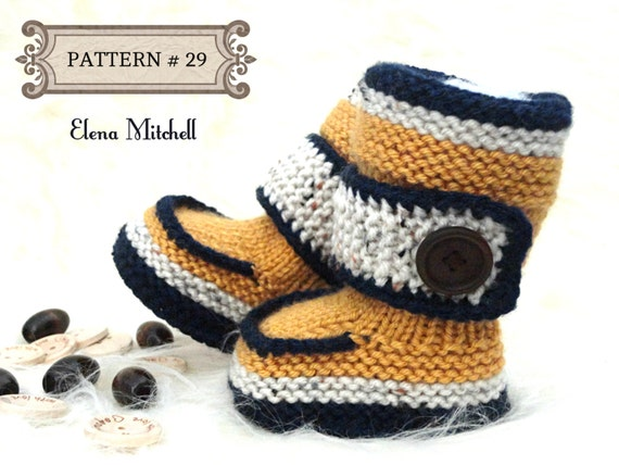 Knitting Pattern For Baby Boy Shoes : Knitting PATTERN Baby Shoes Baby Booties Baby Boy Baby Girl