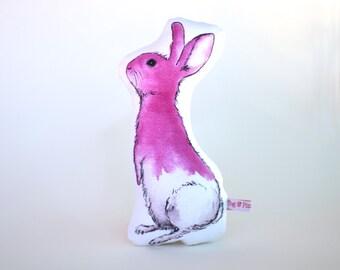 Pink Bunny Softie // cushion, baby's room, nursery, childs room, children's bedroom, imaginative play, waldorf, steiner, rabbit