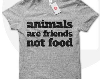 Animals are friends not food t shirt, Vegan Tshirt, vegan t shirt, , gift for vegan, vegetarian, veggie, animal lover, vegan lover