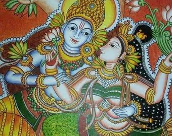 Kerala Mural Krishna and Radha