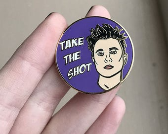 Synyster Gates Avenged Sevenfold TAKE THE SHOT Hard Enamel Pin 30mm