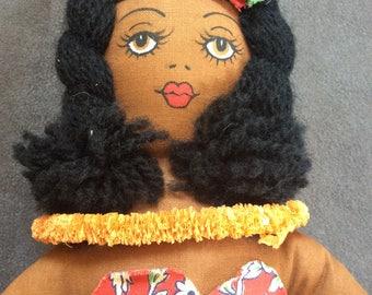 Vintage Hawaiian Hula Rag Doll