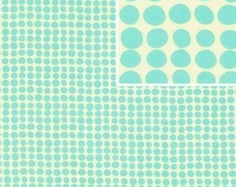 Fabric Amy Butler Love Collection Sun Spots in Turquoise 1 yard Cotton Designer Discontinued