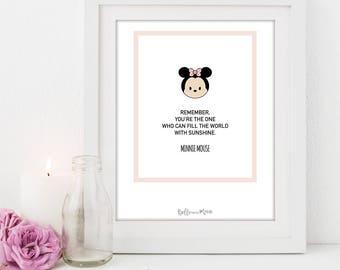 A4 Disney Series Print | Minnie Mouse