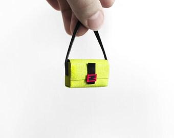 Italian Neon sequin FF handbag