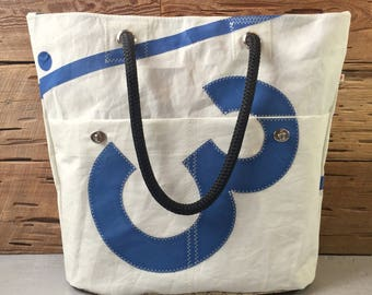 Number 3 Recycled Sail Tote