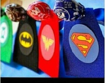 superhero cape lollipop instant download