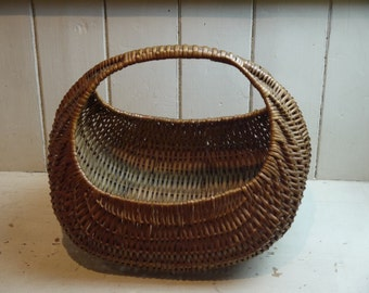 Vintage Retro Gondola Wicker Basket - 1960s
