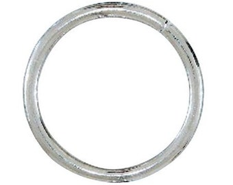 "2-1/2"" Nickel Plate Welded Round Ring"
