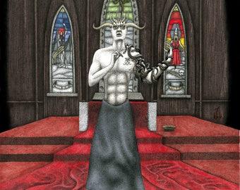DCLXVI - original satanic art by Propraetor