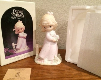"1984 Precious Moments Four Seasons Series ""The Voice of Spring"" Figurine #12068"