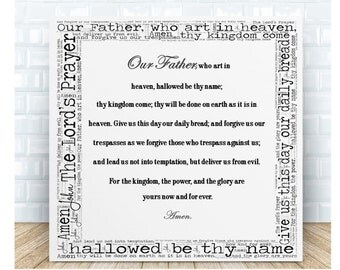 The Lord's Prayer Ceramic Word Art Plaque. Personalised Gift