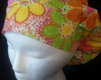 Flower Fun Bouffant Surgical Scrub Hat