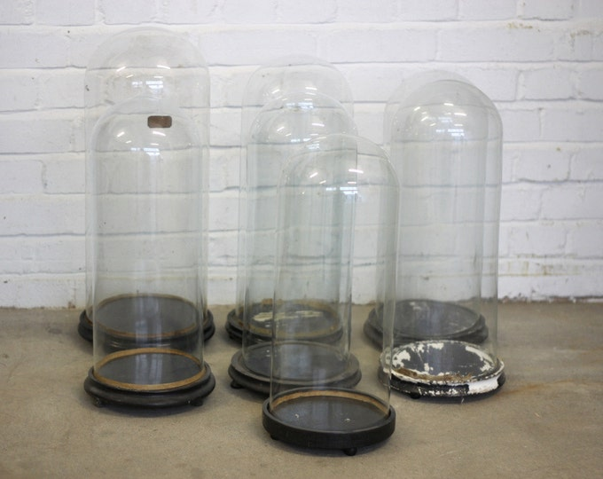 Late 19th Century French Hand Blown Glass Display Domes