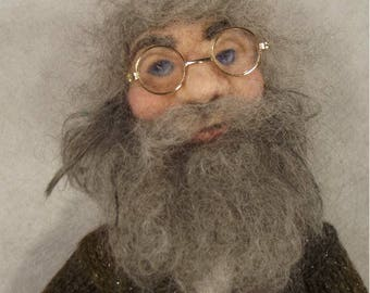 Needle felted doll, Needle felted sculpture, Jakob, Needle felted Art doll, Needle felted Man