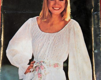See & Sew by Butterick 5793 Simple to sew peasant blouse pattern Size 14