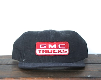Vintage GMC Trucks General Motors Pickup Corduroy Trucker Hat Snapback Baseball Cap Patch