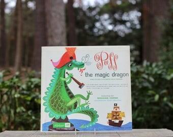 Vintage Puff the Magic Dragon Album / Dragon Nursery Art / Puff the Magic Dragon Record / Dragon Nursery Decor / Nursery Wall Art