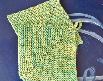 hand knitted potholder, pot holder, knitting, classic style, vintage, cotton potholder, hand knit, double thick, housewarming